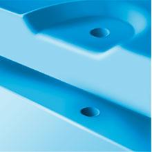 Isi Tetap Terjaga tertutup rapat baik pada saat penyimpanan maupun pengiriman, tersedia lubang pengait di kedua sisi badan dan tutup box