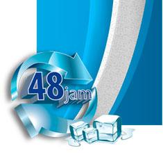 Cool Box dilapisi polyurethane untuk menjaga suhu udara di dalam cool box terjaga selama 48 jam dengan ketebalan 2 inchi