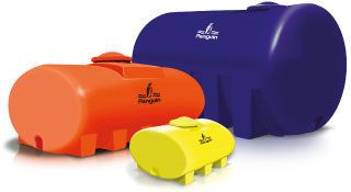 Sebagai penyimpanan air atau kimia yang dapat dibawa pada kendaraan seperti truk, tangki ini digunakan di pertanian  dan pertamanan