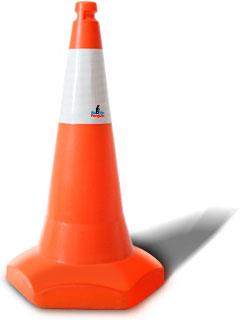 Traffic Cone ringan, kuat dan flexibel agar mudah dipindahkan/disimpan, juga sebagai rambu pengaman, pembatas jalan/tanda khusus parkir
